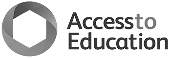 Access to Education Black and White logo