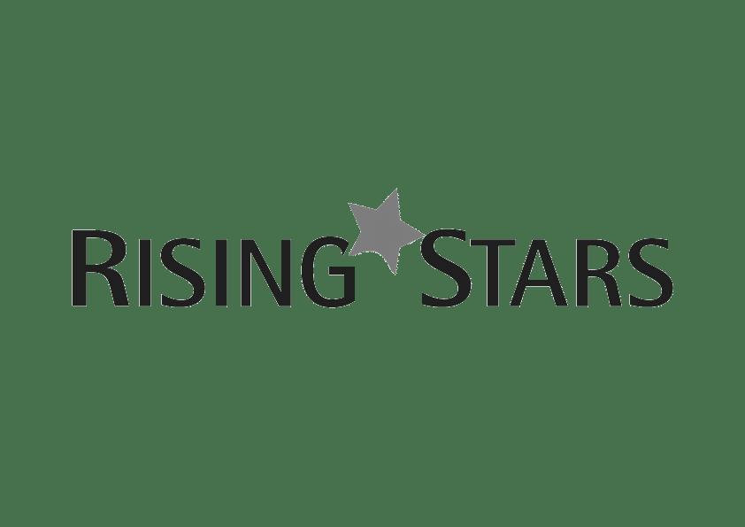 Rising Stars Black and White Logo