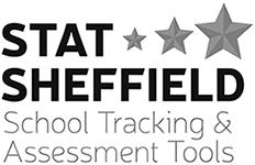 STAT Sheffield Black and White logo